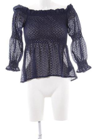 Bardot Langarm-Bluse blau Elegant