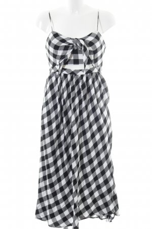 Bardot Midikleid schwarz-weiß Karomuster 60ies-Stil