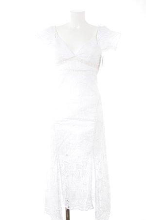 Bardot Vestido de encaje blanco look Boho