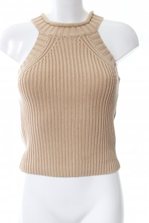 Bardot Knitted Top nude cable stitch casual look