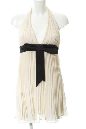 Bardot Vestido tipo overol crema-negro elegante