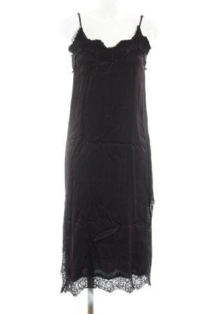 Bardot Vestido tipo overol negro estilo extravagante
