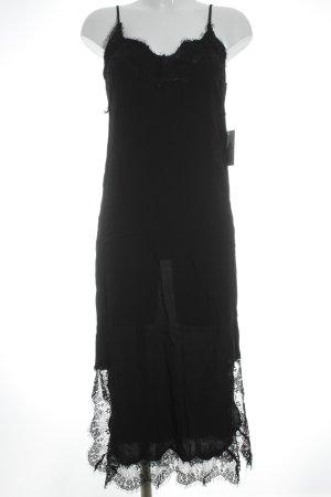 Bardot Fond de robe noir style de lingerie