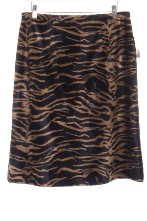 Barisal Jupe crayon marron clair-noir motif animal style extravagant