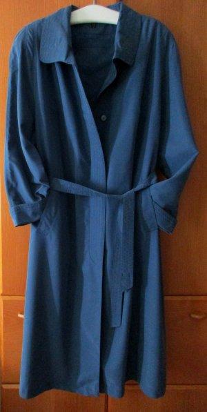 BARISAL Damen Sommer Maxi Mantel blau zeitlos lang einreihig uni, Gr. 48