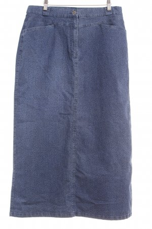 Barisal Jupe en jeans bleu acier motif floral Aspect de jeans