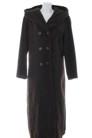 Barisal Cappotto con cappuccio marrone scuro stile da moda di strada