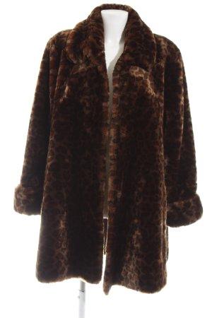 Barisal Fake Fur Coat brown-black animal pattern casual look