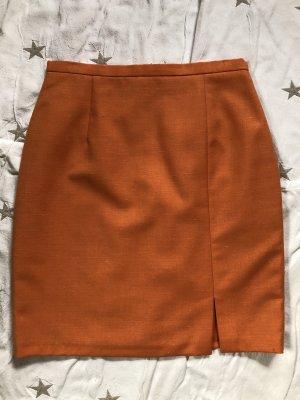 Barisal Falda de lino naranja oscuro