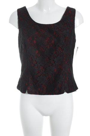 Barisal Spitzenbluse rot-schwarz Blumenmuster Elegant