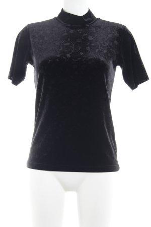 Barisal T-shirt nero effetto velluto