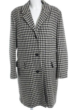 Barisal Manteau en laine crème-noir motif abstrait style mode des rues