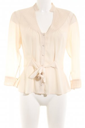 Barneys New York Transparent Blouse cream business style