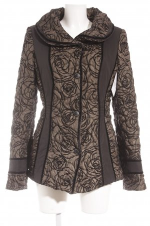 Baronia Edition Between-Seasons Jacket black-olive green floral pattern