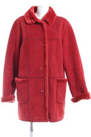 Baronia Edition Winter Coat brick red fluffy