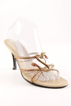 Barratts High Heel Sandal gold-colored extravagant style