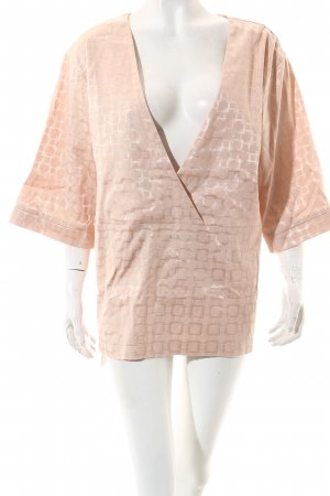 Barre Noire Kimono blouse stoffig roze grafisch patroon straat-mode uitstraling