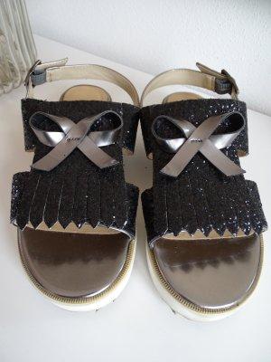 Bata Platform Sandals white-black imitation leather