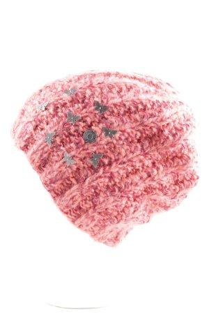 Barts Berretto rosa puntinato stile casual
