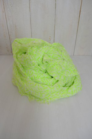Barts Neckerchief white-neon yellow cotton