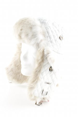 Barts Fur Hat white quilting pattern elegant