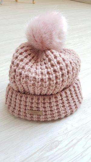 Barts Sombrero de punto rosa empolvado