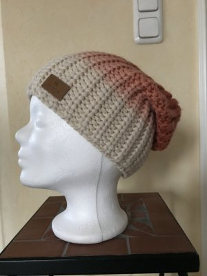 Barts Knitted Hat oatmeal-salmon