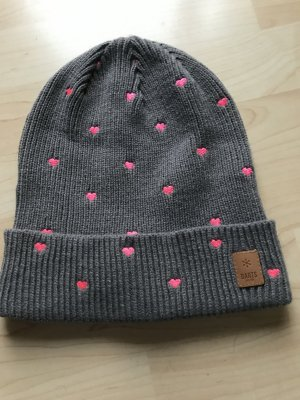 Barts Beanie dark grey-pink