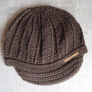 Barts Crochet Cap brown-dark brown polyacrylic
