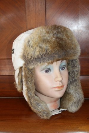 Barts Fur Hat white mixture fibre