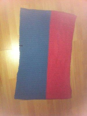 Barts Bufanda de punto rojo frambuesa-azul acero