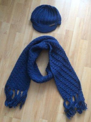 Barts Schal Mütze blau (NEU)