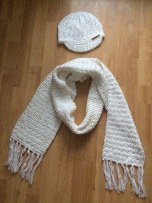 Barts Schal Mütze weiß creme (NEU)