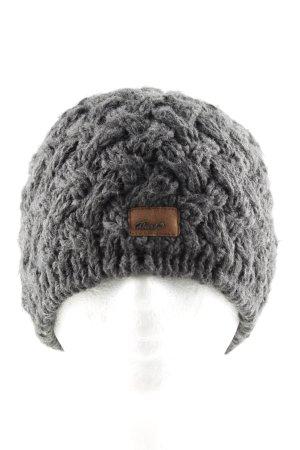 Barts Sombrero de punto gris claro moteado look casual