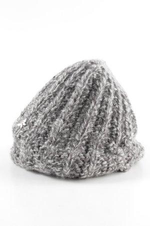 Barts Cappello a maglia nero-bianco puntinato stile da moda di strada