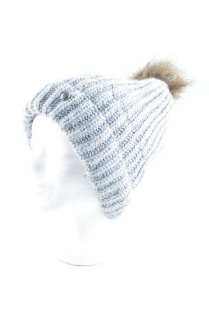 Barts Chapeau en tricot gris-argenté style décontracté
