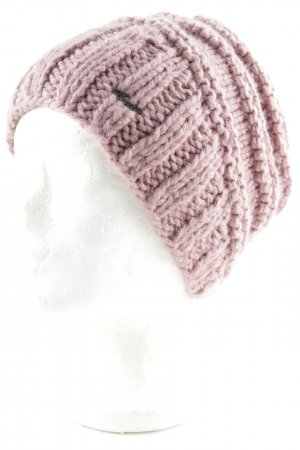 Barts Knitted Hat rose-gold-coloured loosely knitted pattern casual look