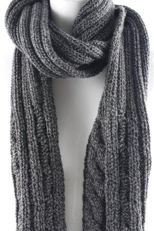 Barts Knitted Scarf dark grey-grey flecked casual look