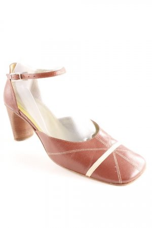 Bartu Riemchenpumps braun-hellbeige Country-Look