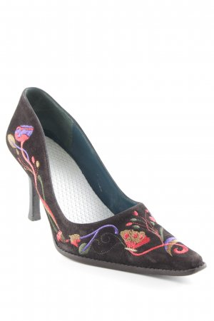 Bartu Pointed Toe Pumps flower pattern hippie style