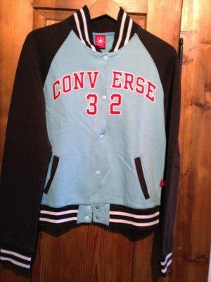 Baseball Blouson College-Jacke Sportjacke Sweatshirt Converse blau braun S