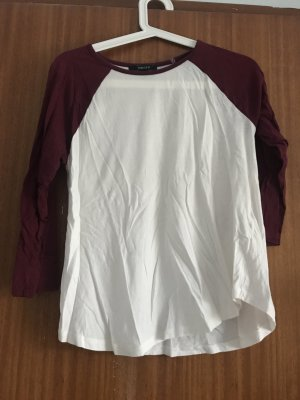 Forever 21 Rugby Shirt white-bordeaux
