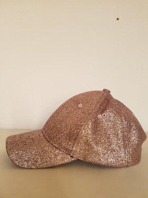 Basecap/ Cappie/ Schirmmütze, Glitzer, rose-gold, NP 25 Euro