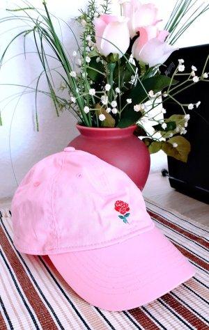 Basecap Rosa Flower Blume Sportsstyle