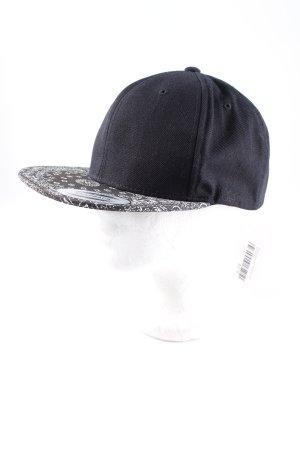 Basecap schwarz-weiß Ornamentenmuster sportlicher Stil