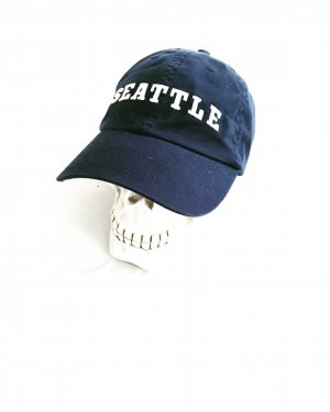 basecap / seattle / vintage / blau / weiss / casual / hats