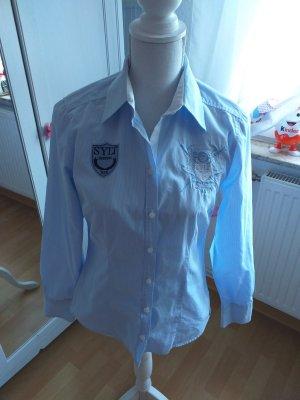 Basefield Camicia blusa bianco-blu