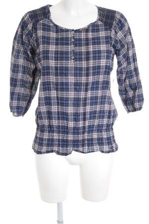 Basefield Camicia blusa motivo a quadri stile casual