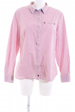 Basefield Checked Blouse pink check pattern casual look