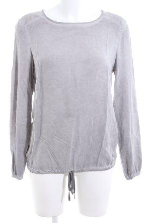 Basefield Long Sleeve Blouse light grey business style